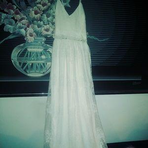 Royal white lace dress